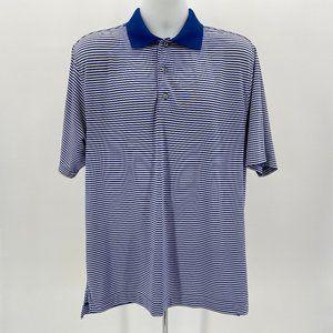 FootJoy Golf Blue & White Striped Polo Shirt Med